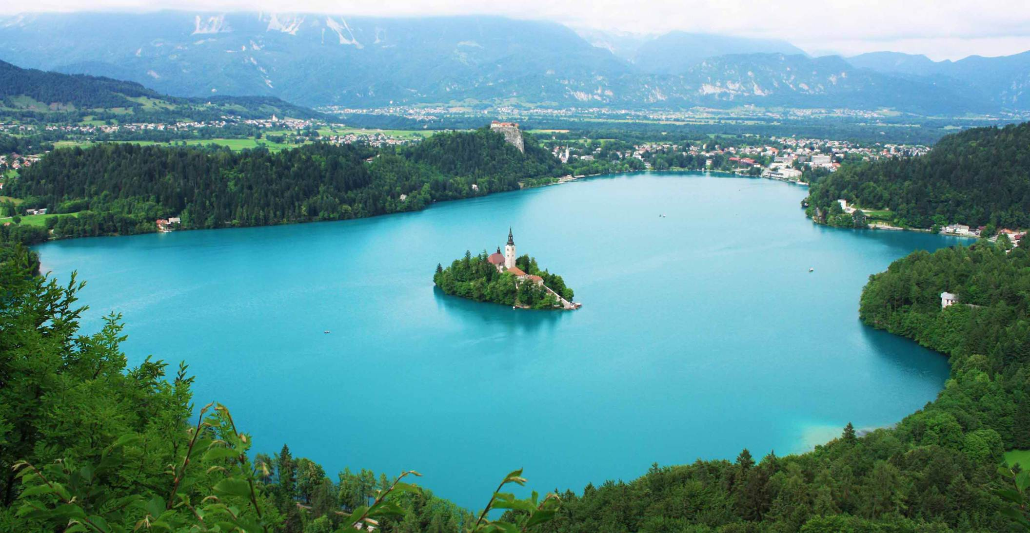 vista do lago Bled